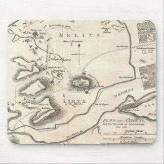 Vintage Map of Athens Greece (1784) Mouse Pad