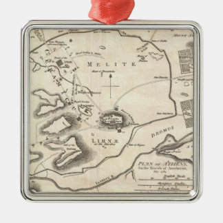 Vintage Map of Athens Greece (1784) Ornament