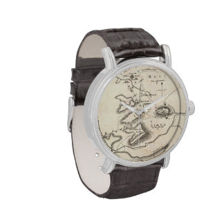 Vintage Map of Athens Greece (1784) Watches