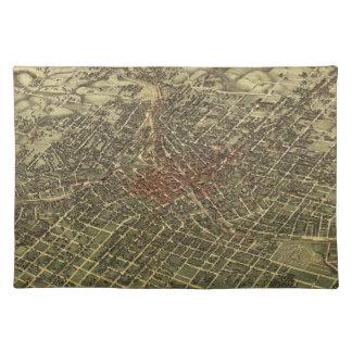 Vintage Map of Atlanta (1892) Place Mats
