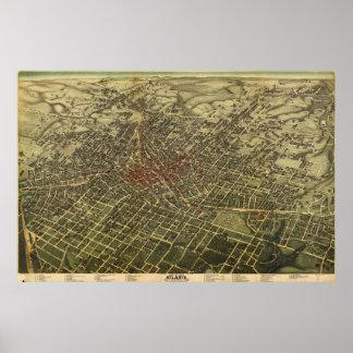 Vintage Map of Atlanta (1892) Poster