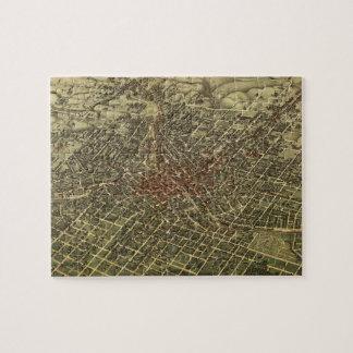 Vintage Map of Atlanta (1892) Jigsaw Puzzle
