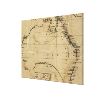 Vintage Map of Australia (1700s) Canvas Print