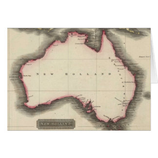 Vintage Map of Australia 1817 Greeting Cards