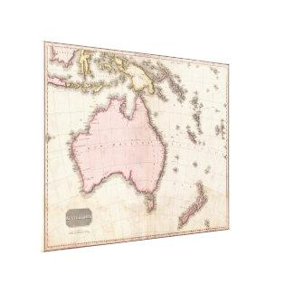 Vintage Map of Australia (1818) Canvas Print