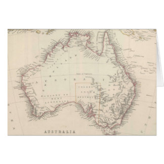Vintage Map of Australia 1848 Greeting Cards