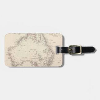 Vintage Map of Australia (1848) Luggage Tag
