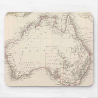 Vintage Map of Australia 1848 Mouse Pads