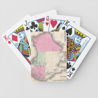Vintage Map of Australia (1862) Bicycle Playing Cards