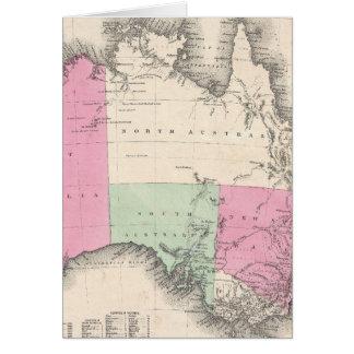 Vintage Map of Australia (1862) Card