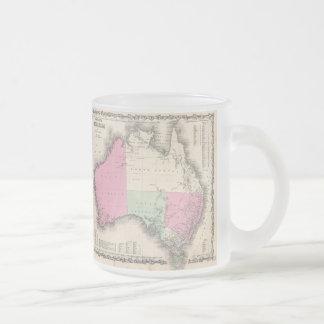 Vintage Map of Australia (1862) Frosted Glass Coffee Mug