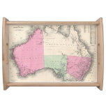 Vintage Map of Australia (1862) Serving Tray