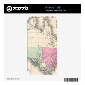Vintage Map of Australia (1862) Decals For iPhone 4