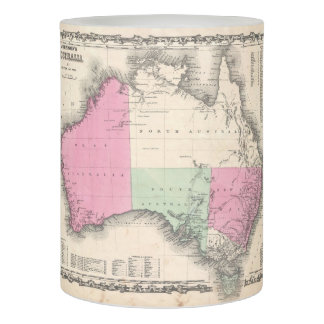 Vintage Map of Australia (1865) Flameless Candle