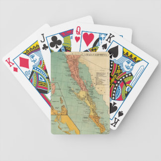 Vintage Map of Baja California (1899) Bicycle Playing Cards