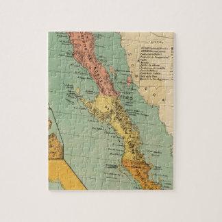 Vintage Map of Baja California (1899) Jigsaw Puzzle