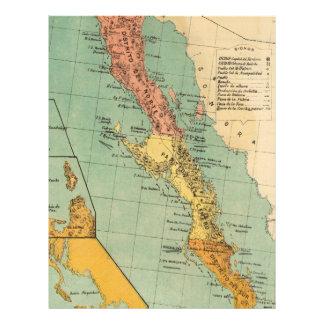 Vintage Map of Baja California (1899) Letterhead