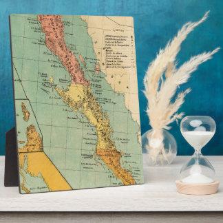 Vintage Map of Baja California (1899) Plaque