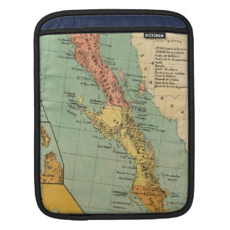 Vintage Map of Baja California (1899) Sleeve For iPads