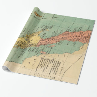 Vintage Map of Baja California (1899) Wrapping Paper