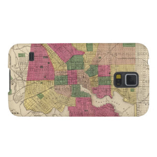 Vintage Map of Baltimore (1873) Cases For Galaxy S5