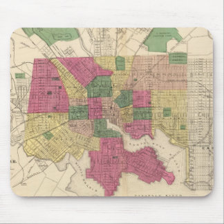 Vintage Map of Baltimore (1873) Mouse Pad