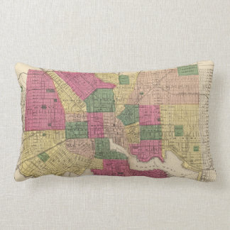 Vintage Map of Baltimore (1873) Pillow