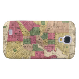 Vintage Map of Baltimore (1873) Samsung Galaxy S4 Covers