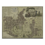 Vintage Map of Baltimore Maryland (1805) Poster
