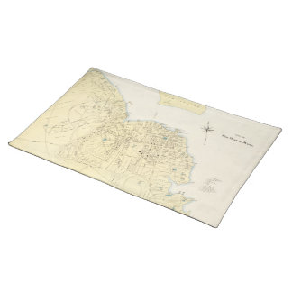 Vintage Map of Bar Harbor Maine (1897) Cloth Placemat