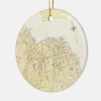 Vintage Map of Bar Harbor Maine (1897) Double-Sided Ceramic Round Christmas Ornament