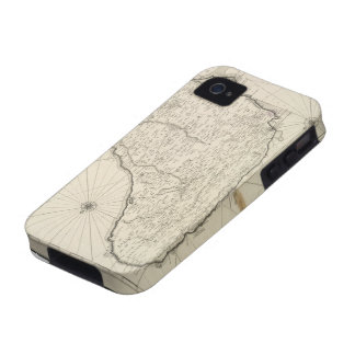 Vintage Map of Barbados 1725 Case-Mate iPhone 4 Cover