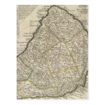 Vintage Map of Barbados (1736) Postcard