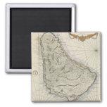 Vintage Map of Barbados (1758) Magnets