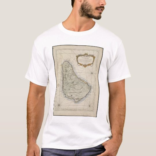 Vintage Map of Barbados (1758) T-Shirt
