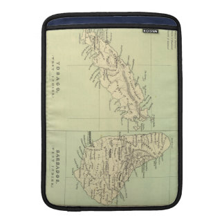 Vintage Map of Barbados and Tobago (1853) MacBook Air Sleeve