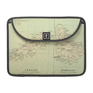 Vintage Map of Barbados and Tobago (1853) MacBook Pro Sleeve