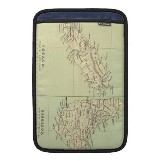 Vintage Map of Barbados and Tobago (1853) MacBook Sleeve
