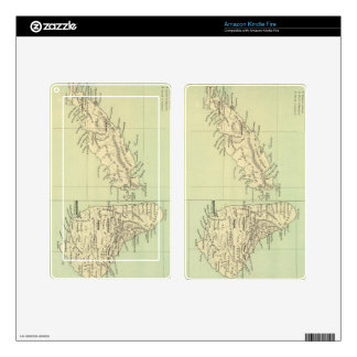Vintage Map of Barbados and Tobago (1853) Skins For Kindle Fire