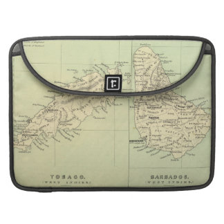 Vintage Map of Barbados and Tobago (1853) Sleeve For MacBook Pro