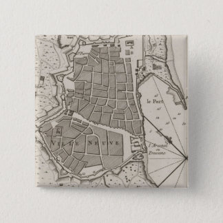 Vintage Map of Barcelona Spain (1764) Pinback Button