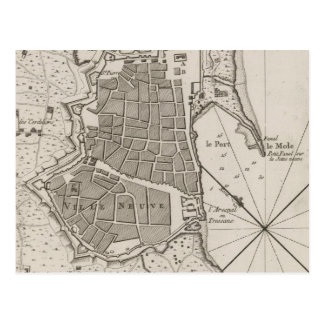 Vintage Map of Barcelona Spain (1764) Postcard