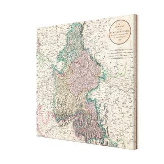 Vintage Map of Bavaria Germany 1799 Canvas Prints