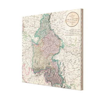 Vintage Map of Bavaria Germany (1799) Canvas Print