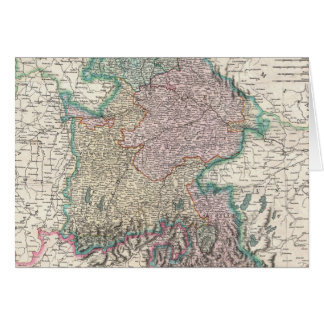 Vintage Map of Bavaria Germany 1799 Greeting Cards