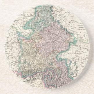 Vintage Map of Bavaria Germany 1799 Drink Coasters