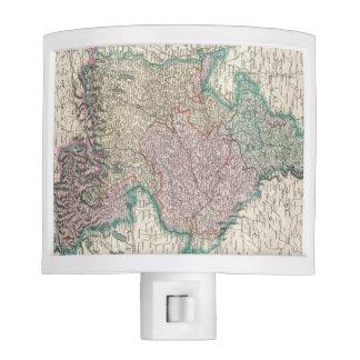 Vintage Map of Bavaria Germany 1799 Night Light