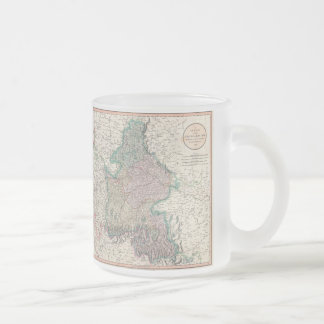 Vintage Map of Bavaria Germany (1799) Frosted Glass Coffee Mug