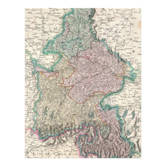 Vintage Map of Bavaria Germany 1799 Personalized Letterhead