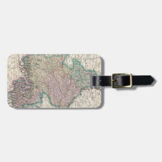 Vintage Map of Bavaria Germany 1799 Tag For Luggage